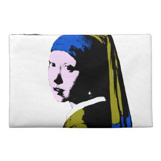 Vermeer's Pearl Earring ala Add BackColor) Travel Accessory Bag