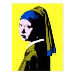 Vermeer's Pearl Earring  ala Postcard