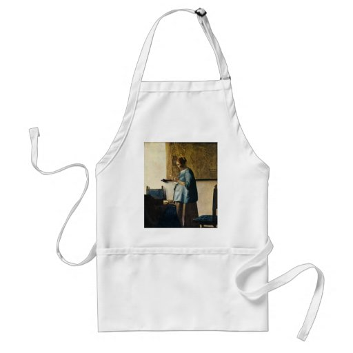Vermeer's Woman in Blue Reading a Letter ca.1665 Apron