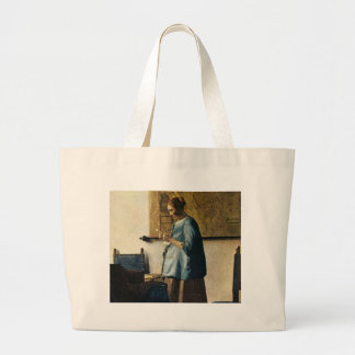 Vermeer's Woman in Blue Reading a Letter ca.1665 Canvas Bag