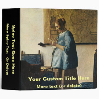 Vermeer's Woman in Blue Reading a Letter ca.1665 Binder