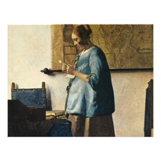 Vermeer's Woman in Blue Reading a Letter ca.1665 Flyer