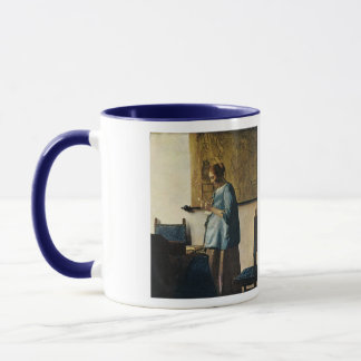 Vermeer's Woman in Blue Reading a Letter ca.1665 Mug