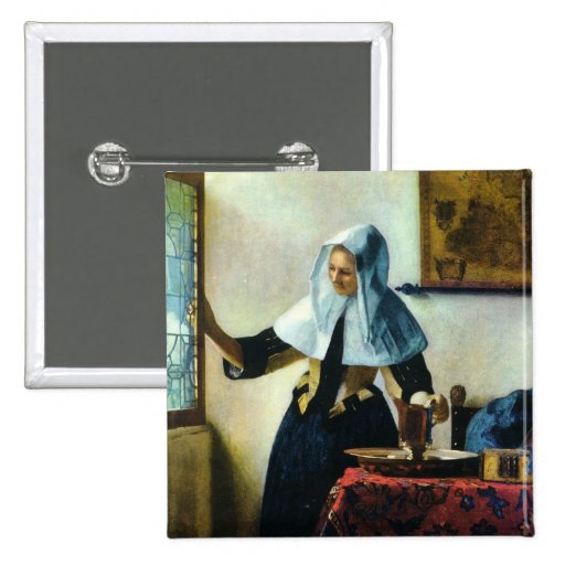 Vermeer's Young Woman with a Water Pitcher ca 1665 Pin