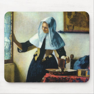Vermeer's Young Woman with a Water Pitcher ca 1665 Mouse Pad