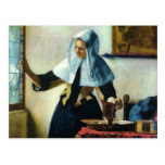 Vermeer's Young Woman with a Water Pitcher ca 1665 Post Cards