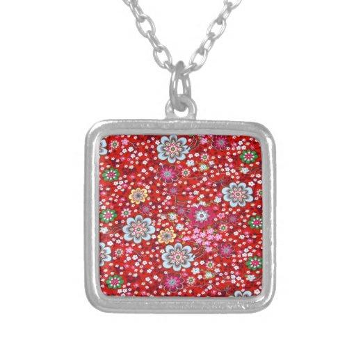 vermelho floral del fundo del em del padrão grimpola personalizada