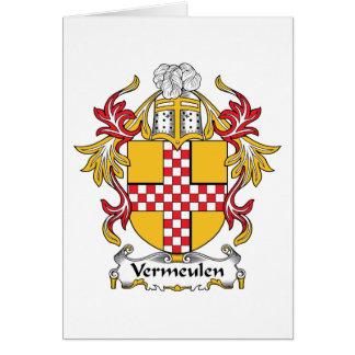 Vermeulen Family Crest Card