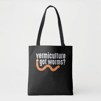 Vermiculture Compost Worm Farming Gardening Tote Bag