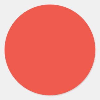 Vermilion Classic Round Sticker