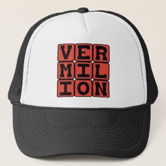 Vermilion, Color Trucker Hat