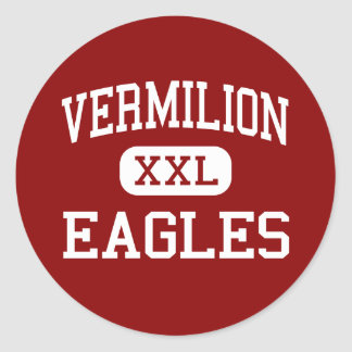 Vermilion - Eagles - Catholic - Abbeville Round Stickers