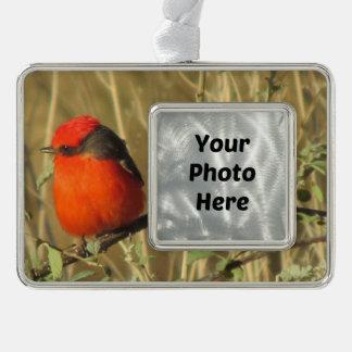 Vermilion Flycatcher Christmas Ornament