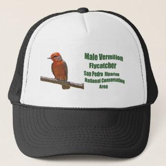 Vermilion Flycatcher male Trucker Hat