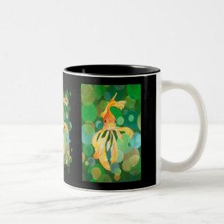 Vermilion Goldfish Swimming In Green Sea of Bubble Two-Tone Coffee Mug