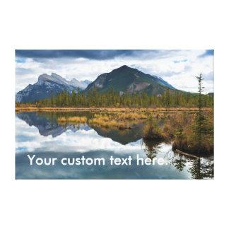 Vermilion Lakes, Banff National Park, Canada Canvas Print