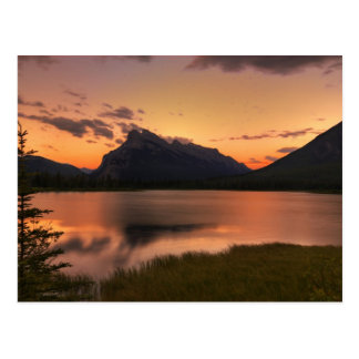 Vermilion Lakes Sunset Postcard
