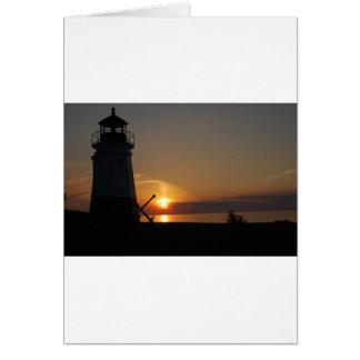 Vermilion Light House Card