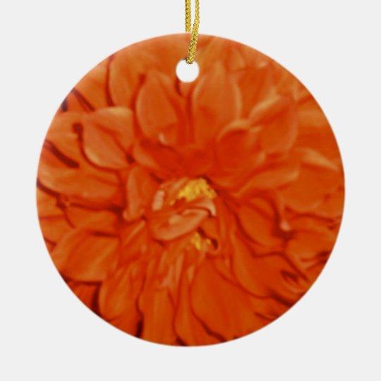 Vermilion Velvet pendant Ceramic Ornament