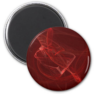 Vermillion 2 Inch Round Magnet