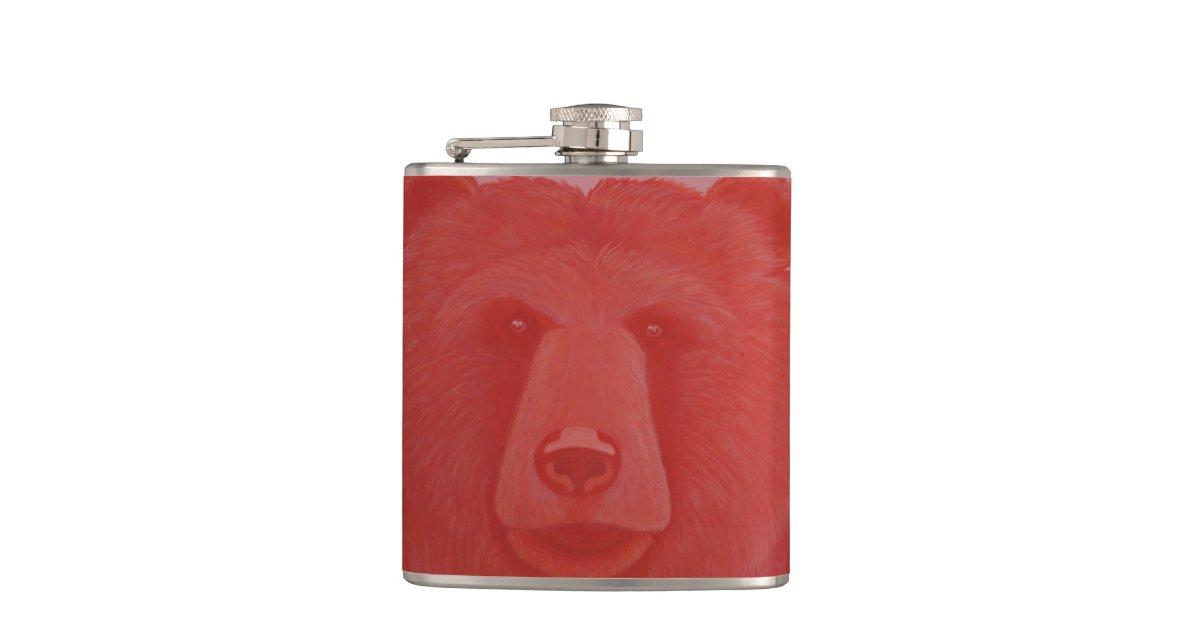 Vermillion Bear Flask