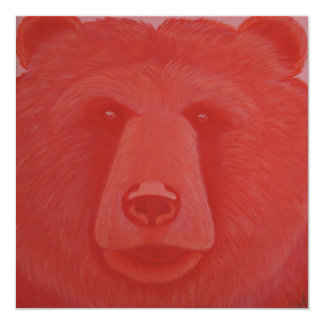 Vermillion Bear Invitations