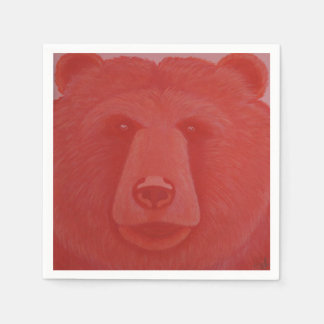 Vermillion Bear Napkins