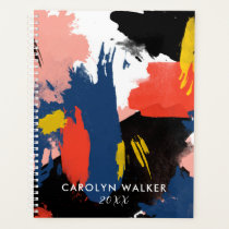 Vermillion Black & Navy - Abstract Watercolor Planner
