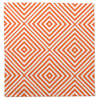 Vermillion Diamond Chevron at Emporiomoffa Napkin