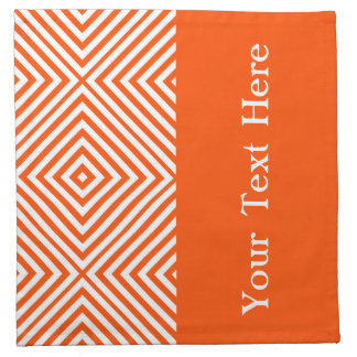 Vermillion Diamond Chevron w/text at  Emporiomoffa Napkin