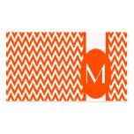 Vermillion Elegant Chevron Monogram Business Card