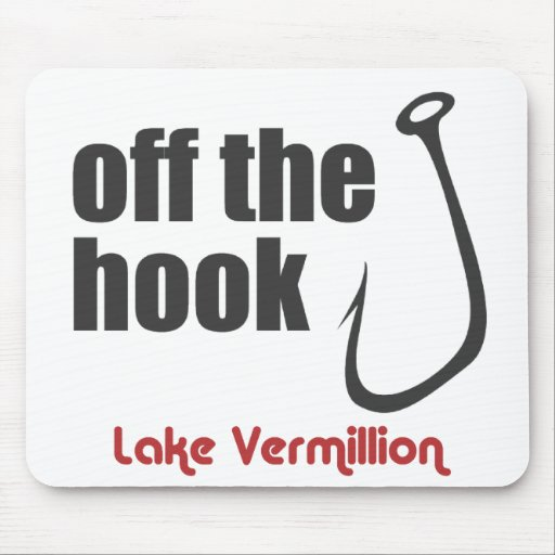 vermillion off the hook mouse pad