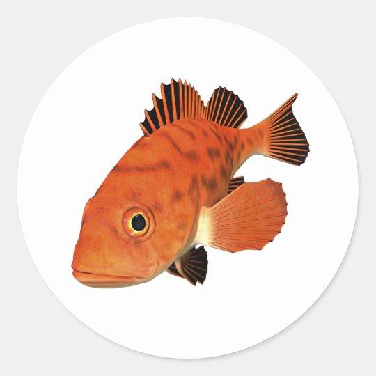 Vermillion Rockfish Classic Round Sticker