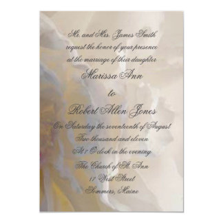 Vermillion White Peony Petals Wedding Invitation