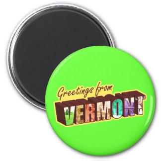 Vermont` 2 Inch Round Magnet