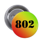 "Vermont ""802"" botón pins"