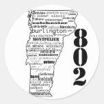 """Vermont """"802"""" pegatinas pegatinas redondas"""