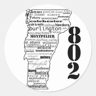 "Vermont ""802"" stickers"
