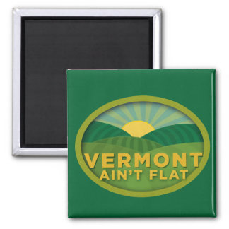 Vermont Ain't Flat 2 Inch Square Magnet