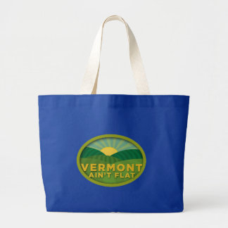 Vermont Ain't Flat Canvas Bag