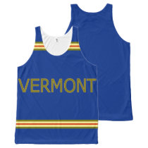 Vermont All-Over Printed Unisex Tank