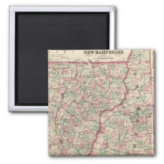 Vermont and New Hampshire 2 2 Inch Square Magnet