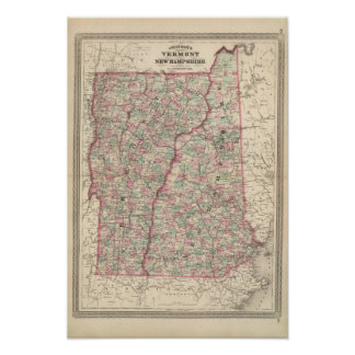 Vermont and New Hampshire 2 Poster