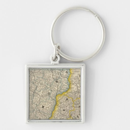 Vermont and New Hampshire Keychain