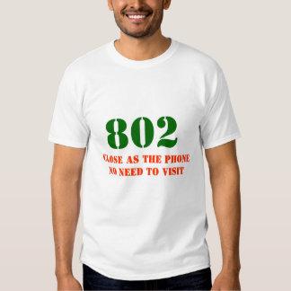 Vermont area code 802 tee shirt