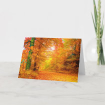 Vermont Autumn Nature Fine Landscape Card