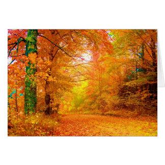 Vermont Autumn Nature Fine Landscape Greeting Card