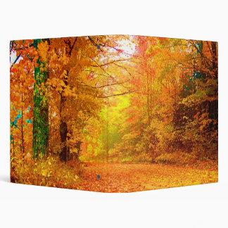 Vermont Autumn Nature Landscape 3 Ring Binder