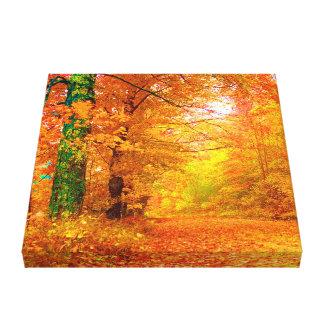 Vermont Autumn Nature Landscape Canvas Print