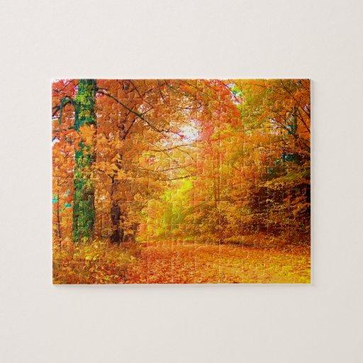 Vermont Autumn Nature Landscape Puzzle